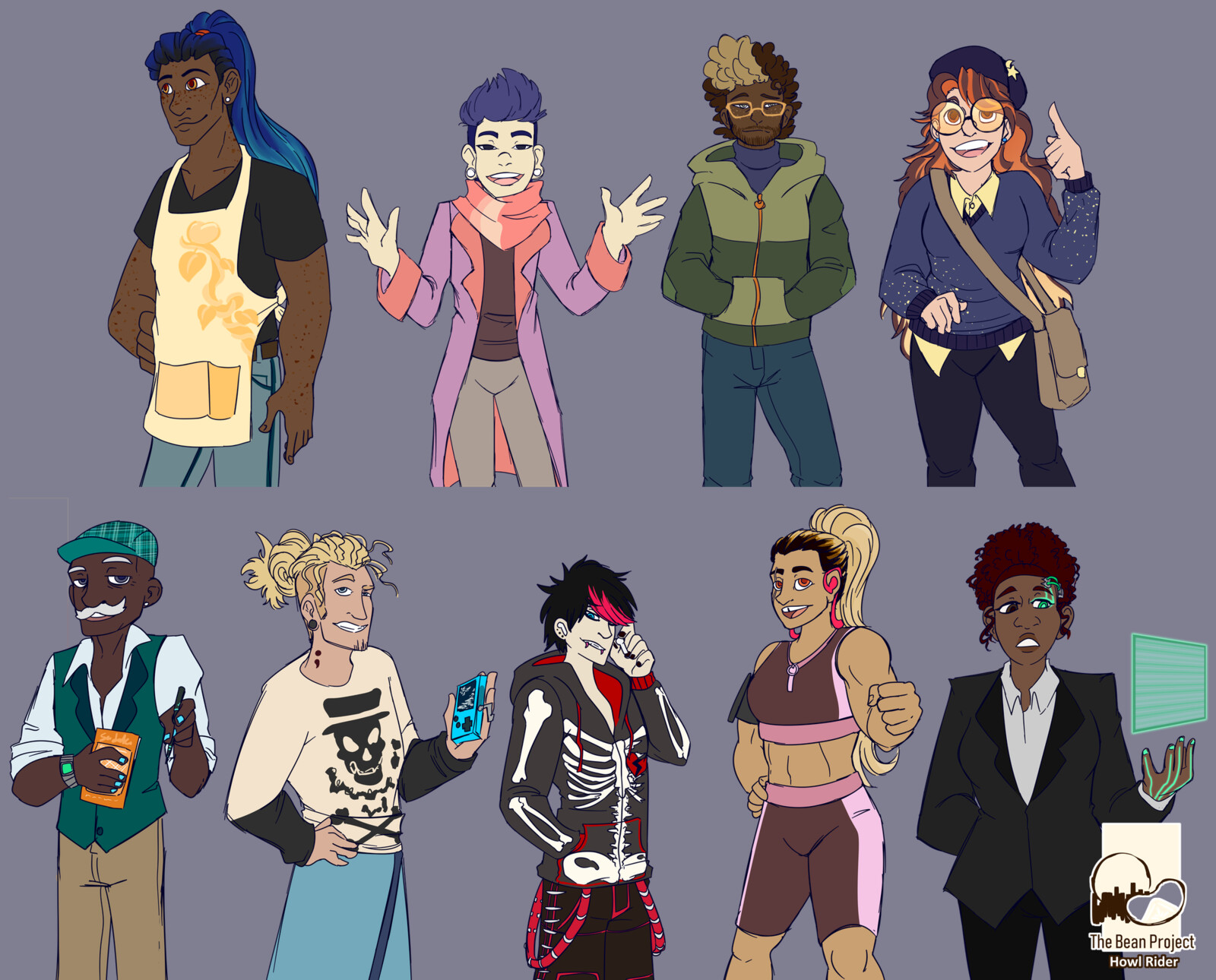 Characters that ended up in the game