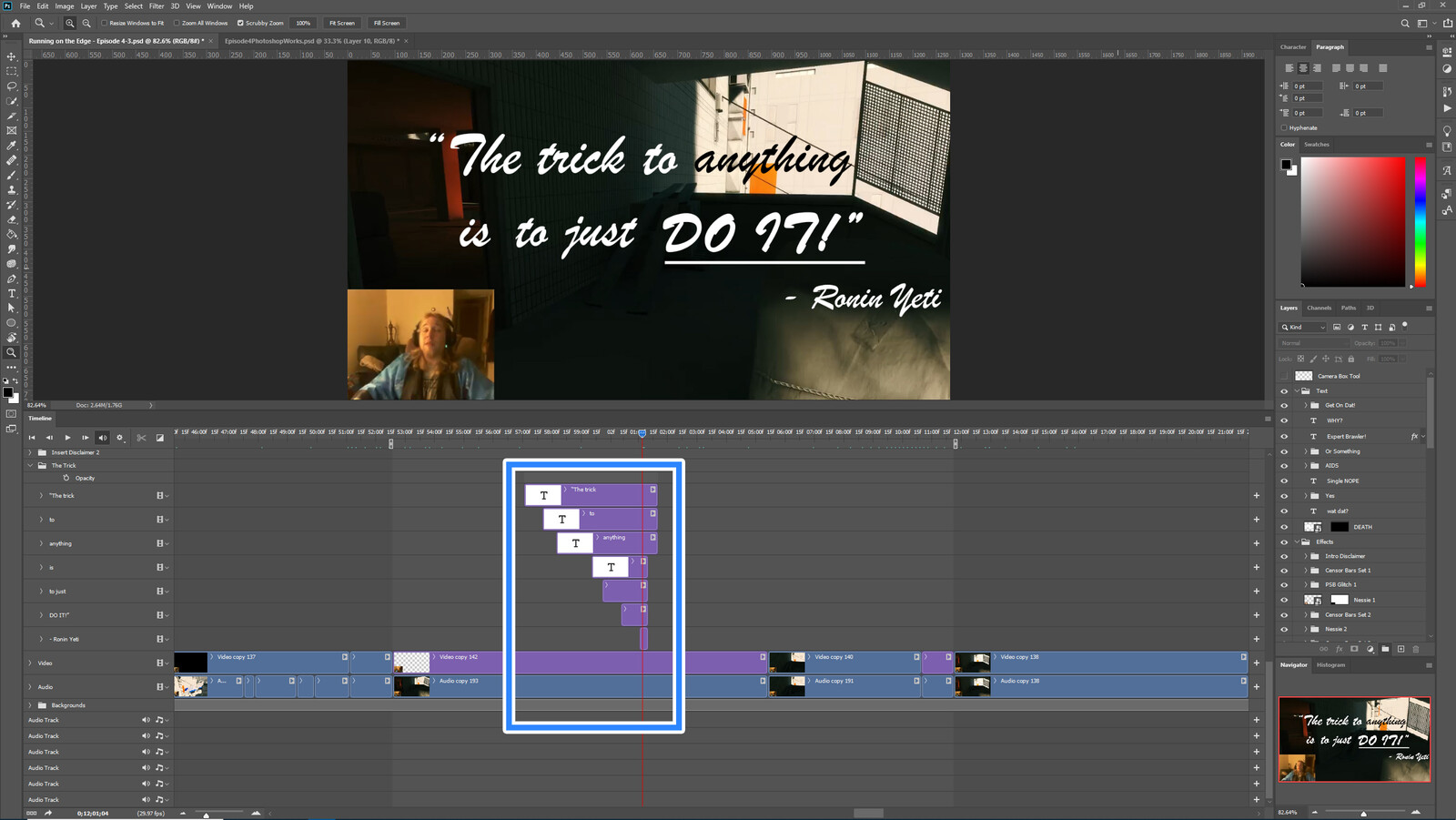 """The """"The Trick to Anything"""" visual effect within Photoshop video editor"""