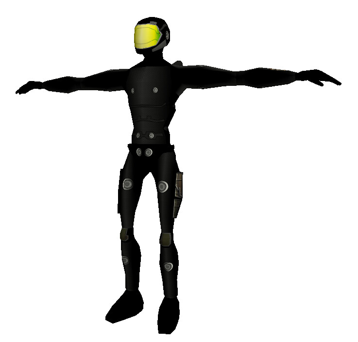 Ninja - 2007 Undersuit for a Halo like armor made for Torque 3d.