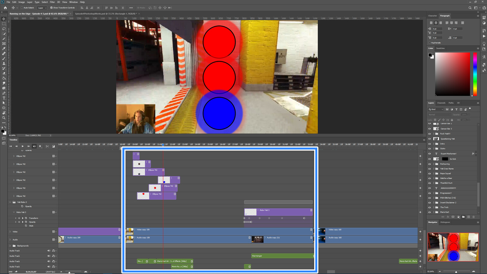 """The """"Kart Hacking"""" visual effect within Photoshop video editor"""