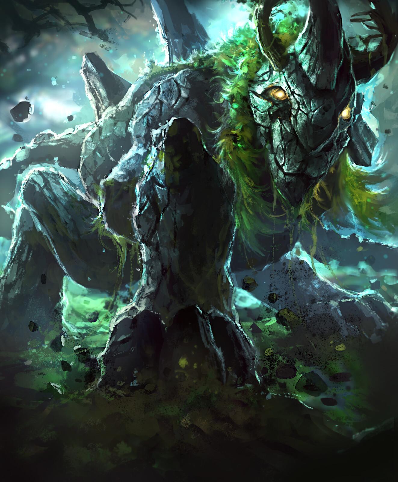Earth Elemental--Arcane Gladiator TCG