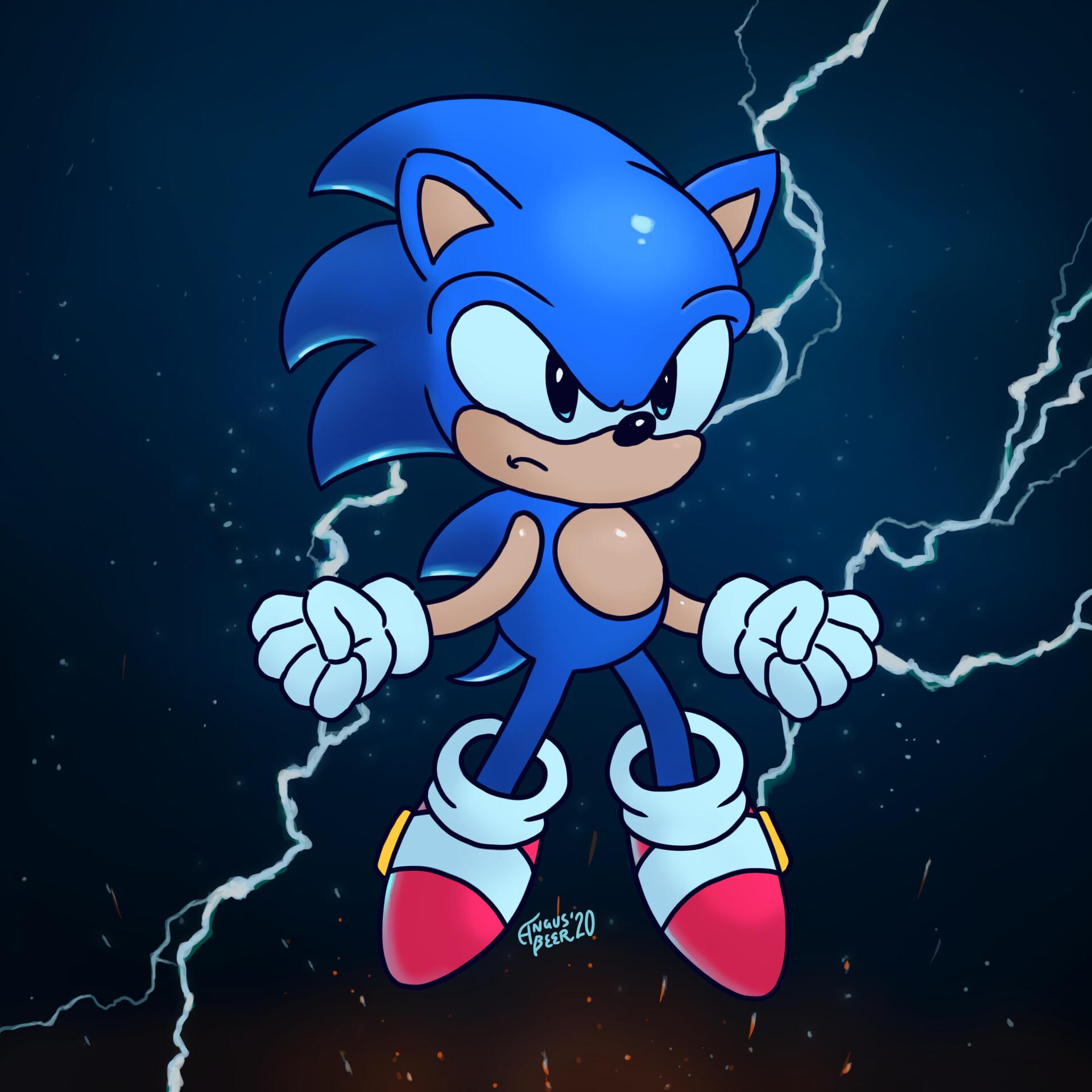 Artstation Sonic The Hedgehog Sixfanarts Angus Beer