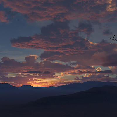 Jeffrey martinez red skies at night tg20190920
