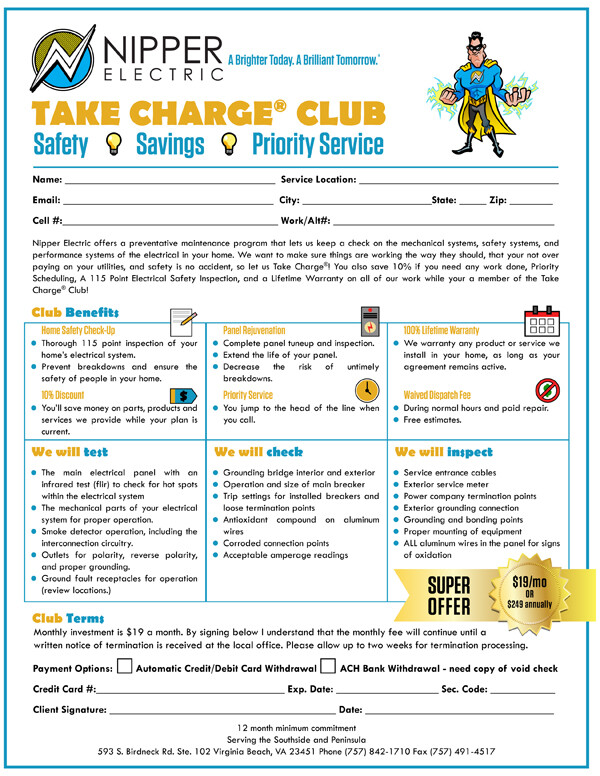 Take Charge Membership form