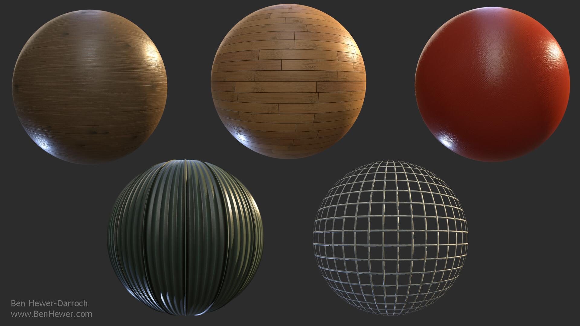 Man Made material renders