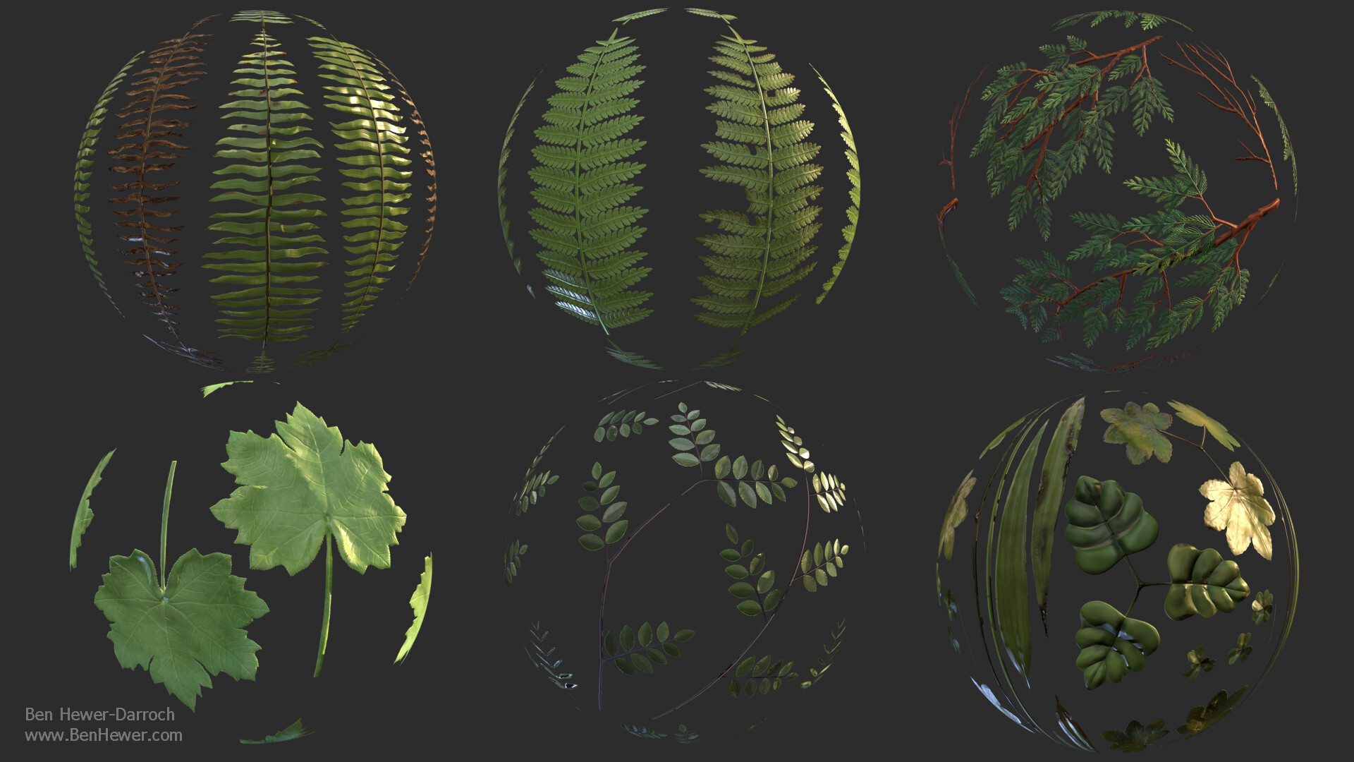 Foliage Material Renders