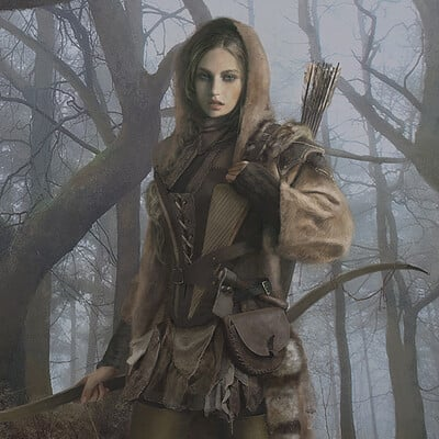 Eve ventrue through the woods artstation