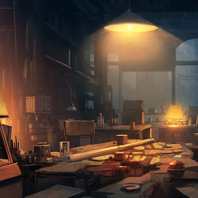Andreas rocha clutteredofficenightversion02