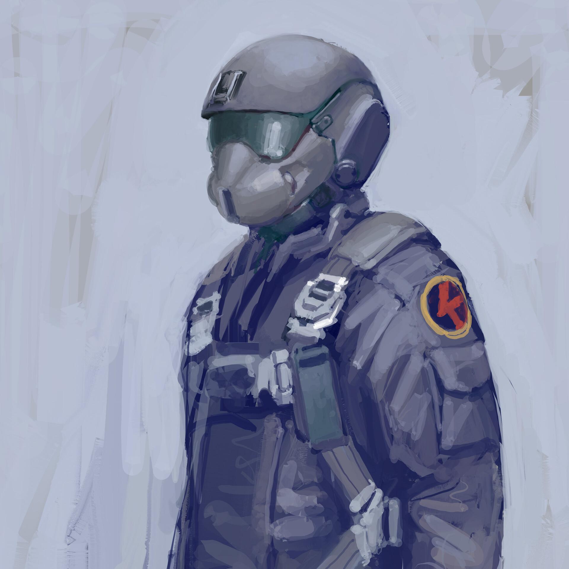 Ballistic face shield.