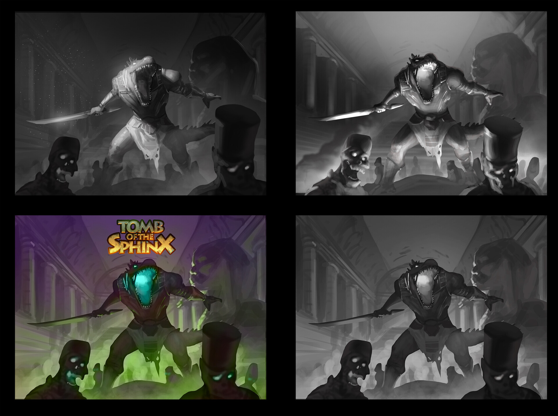 value studies and the initial color comp