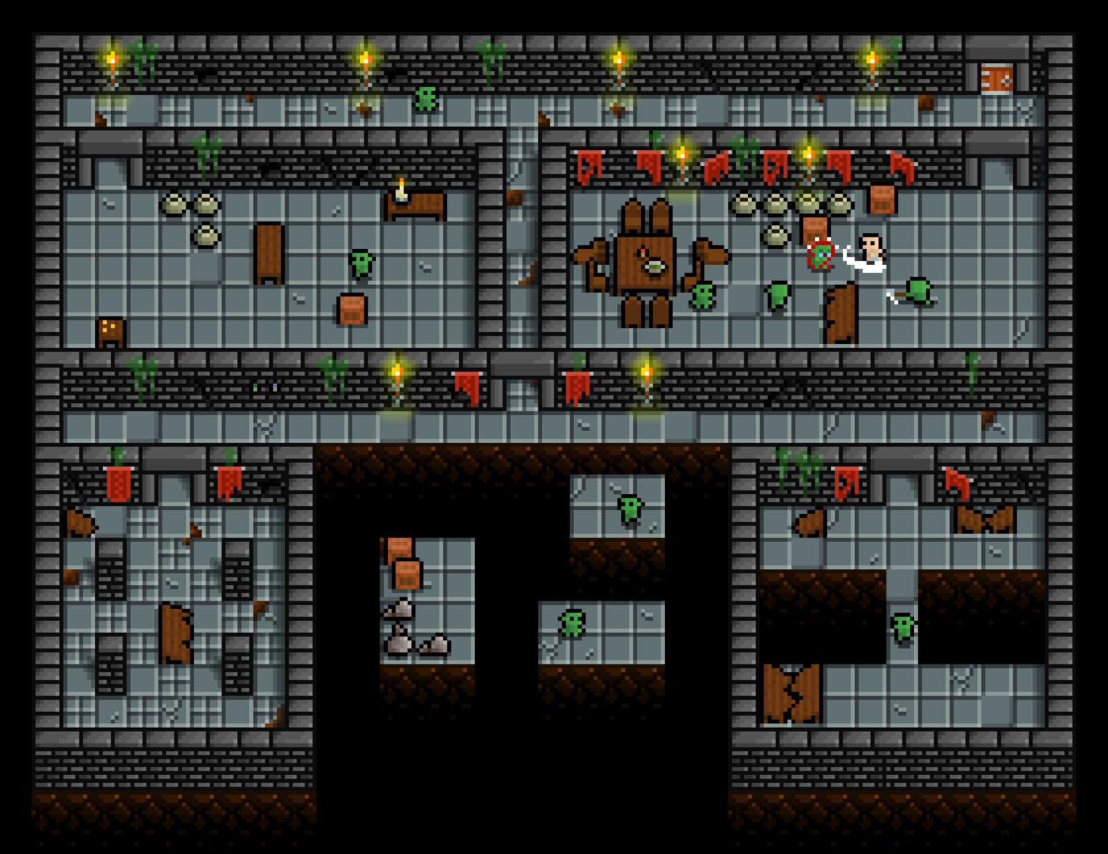 Level sample using Minifantasy - Dungeon tileset