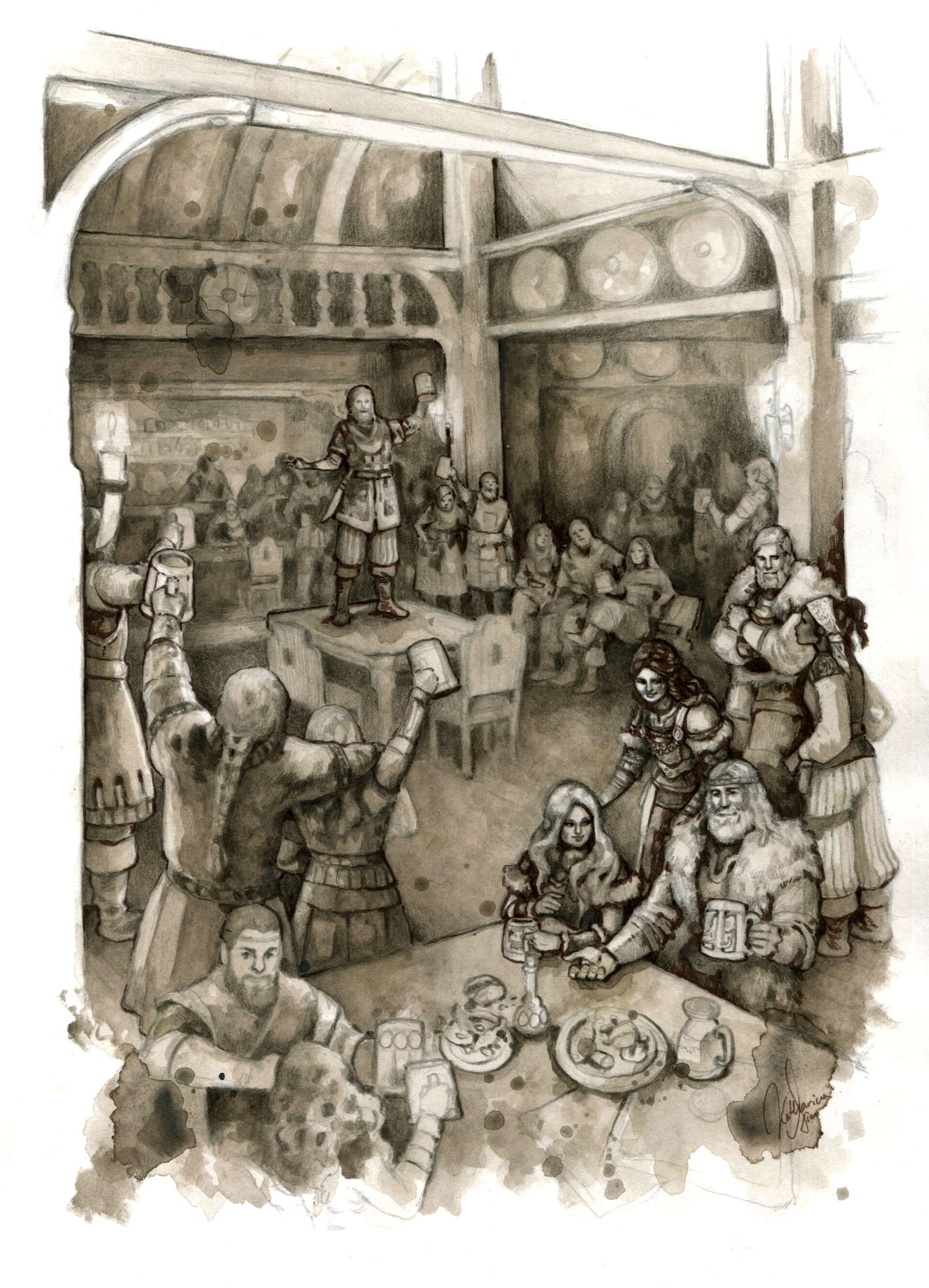 Party in the tavern