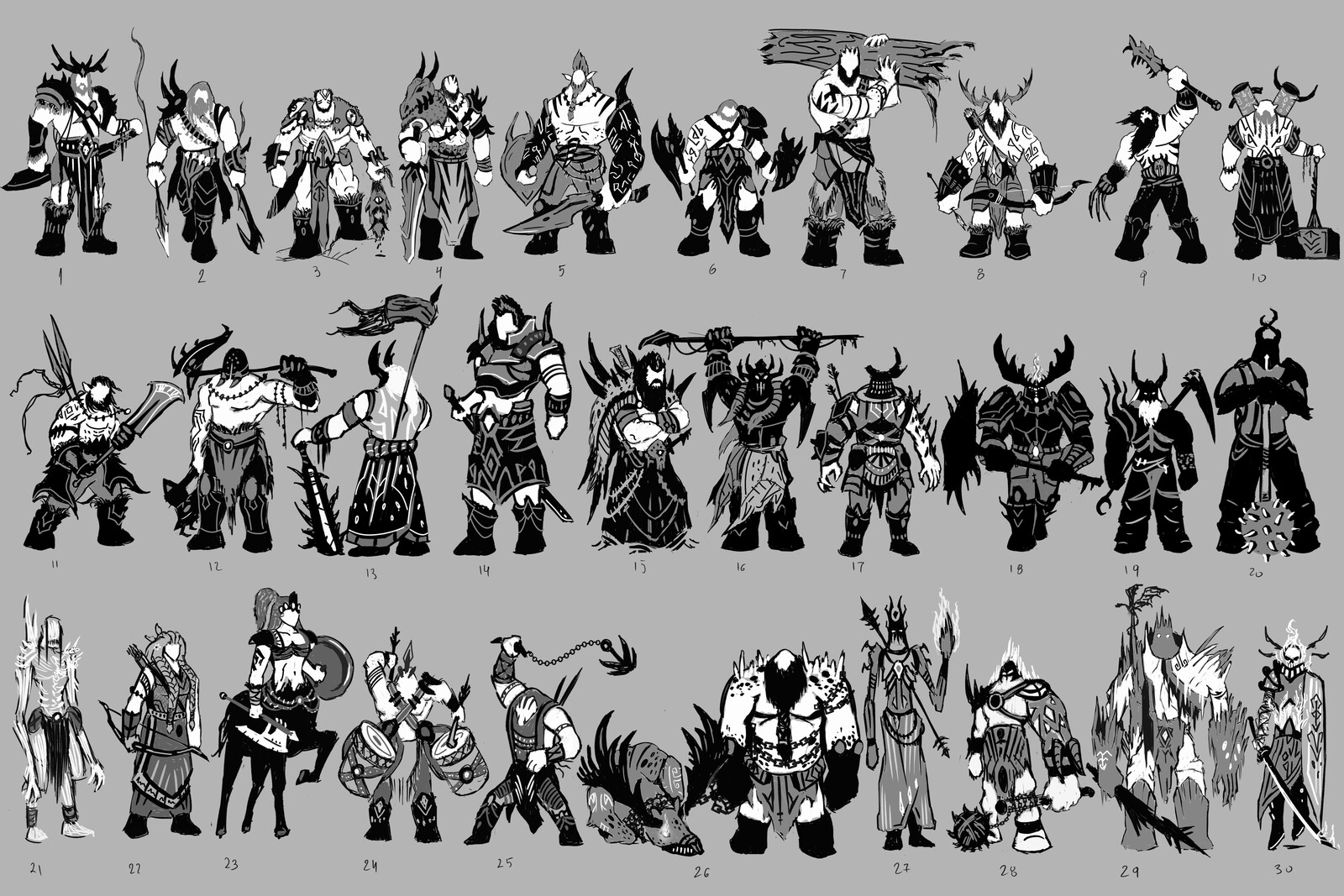 Character Thumbnails - Frost Giant