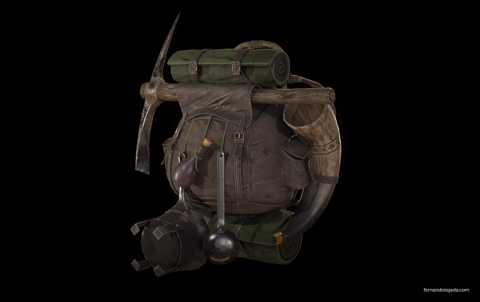 Medieval survival backpack