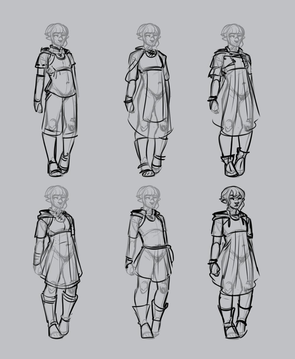 costume design roughs, Lira
