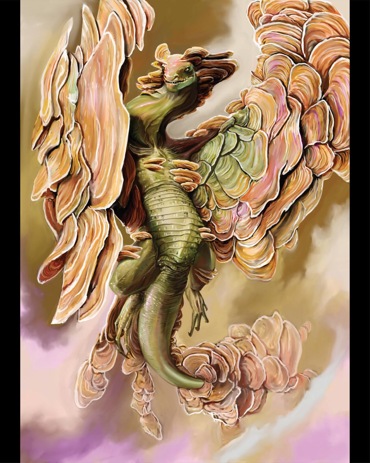Polypore Fungal Dragon