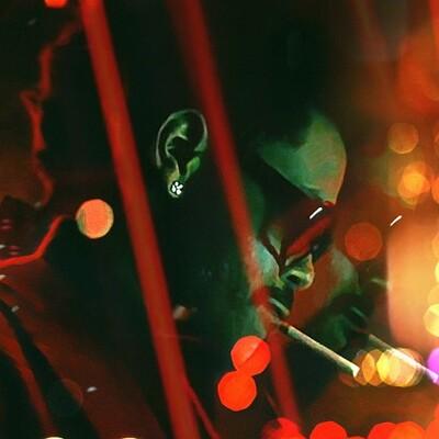 Andrew sebastian kwan blinding lights retro poster web