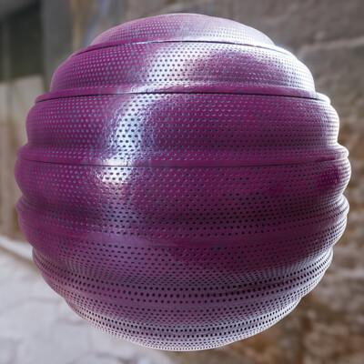 Joshua pelkington paintedwavymetalmesh sphere
