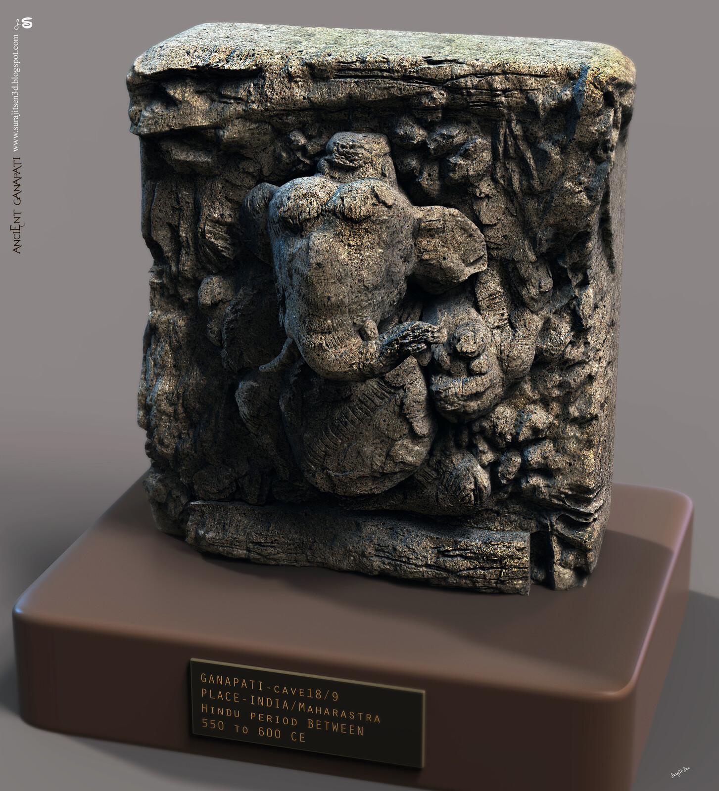 #ancientganeshsculpture Wish to share one of my Digital Sculptures in new look.... Ancient Ganesh Sculpture. Continuing to experiment with brushes… I am always inspired by Ancient Indian Art of Sculpting. Though lot of relics are broken due to huge time t