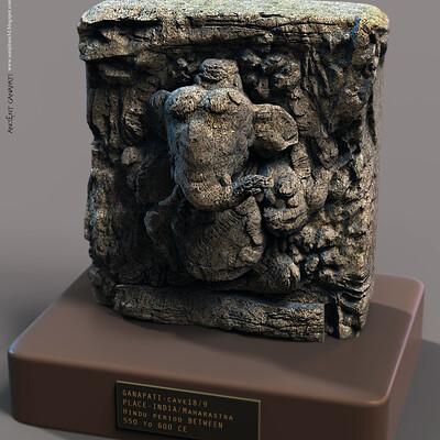 Surajit sen ancient ganapati sculpture surajitsen june2020aa