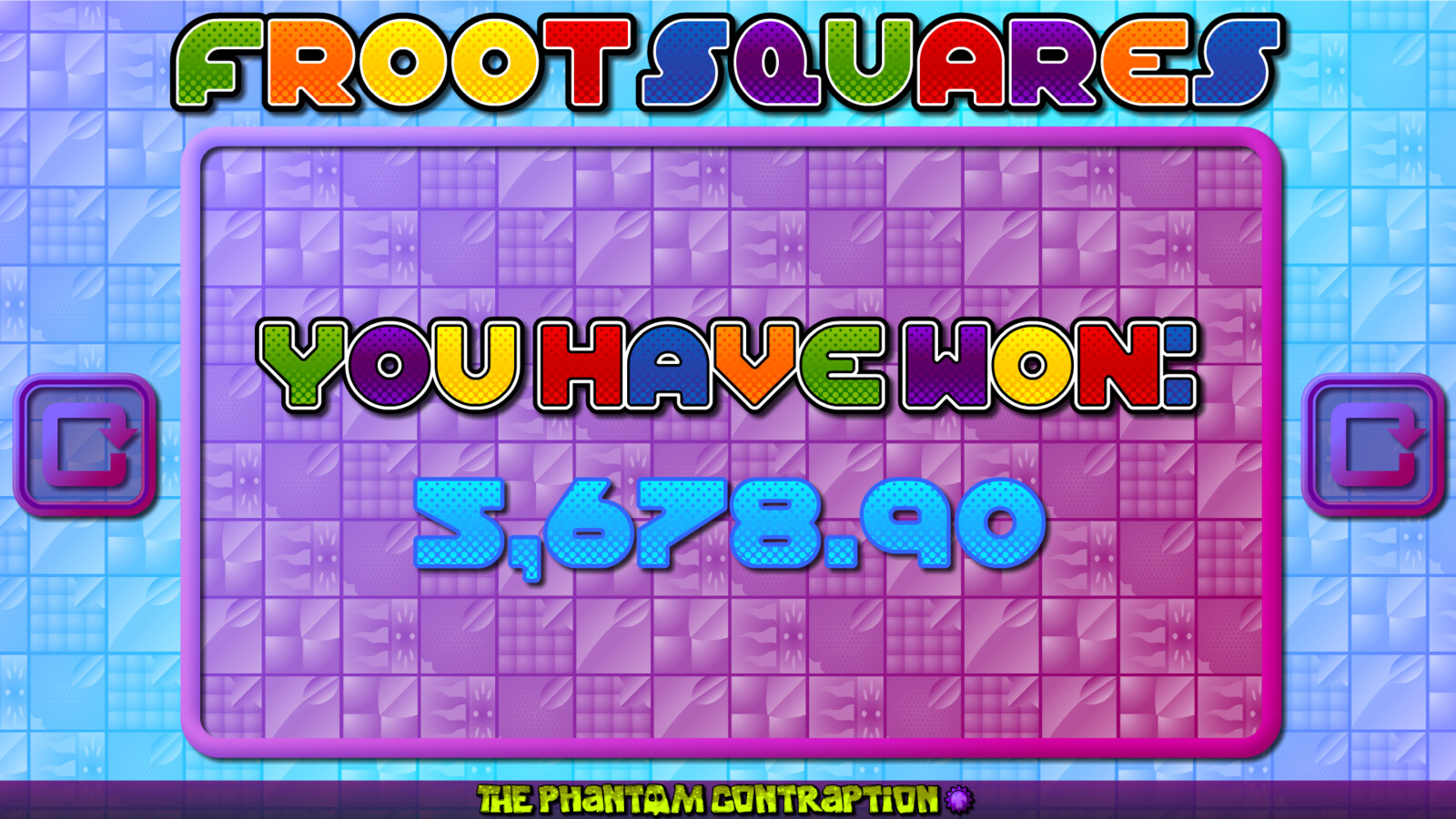 Froot Squares Landscape Screenshot: You Have Won