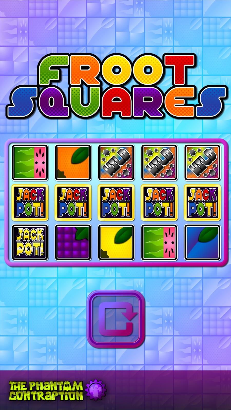 Froot Squares Portrait Screenshot: Jackpot Line