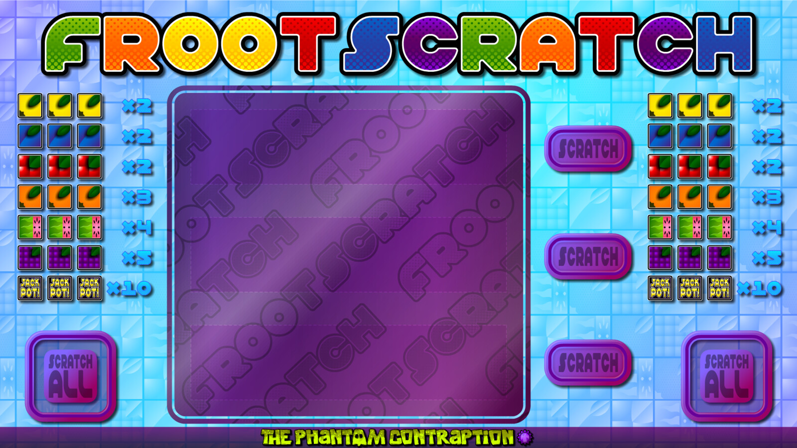 Froot Scratch Landscape Screenshot: Unscratched
