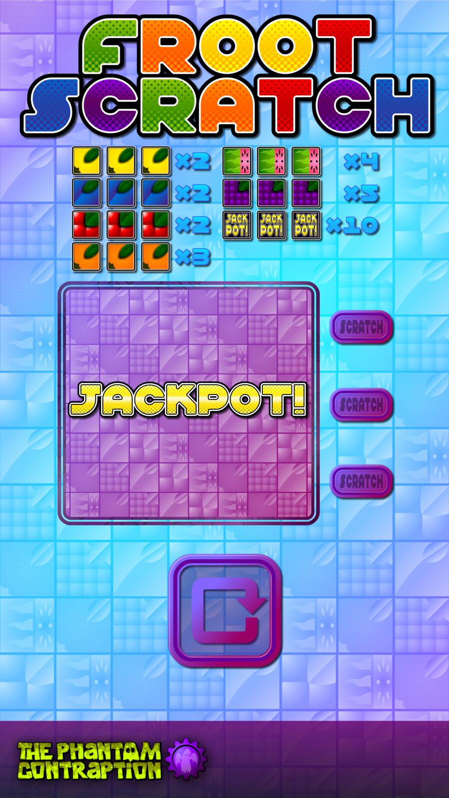 Froot Scratch Portrait Screenshot: Jackpot