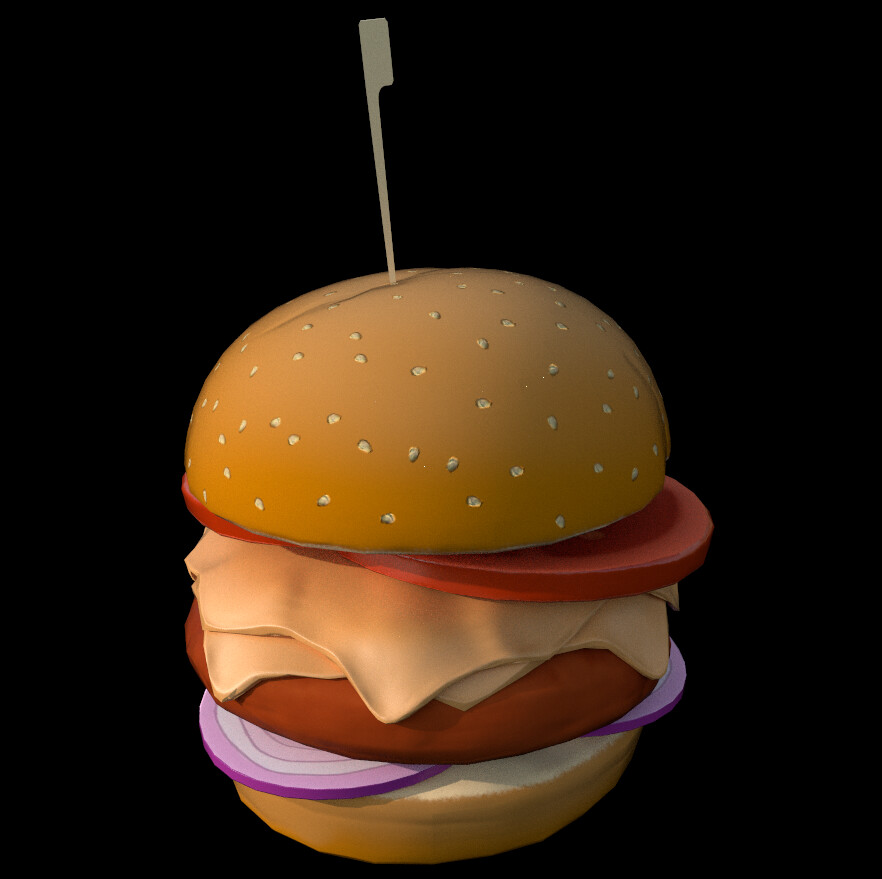 Game Prop • Hamburger • Hand painted.