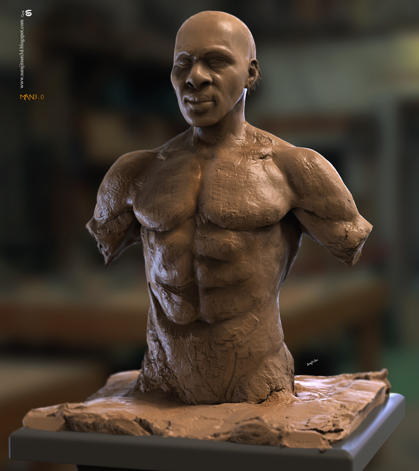 Man3.0 One of my free time study works. Digital Sculpture Background music- #hanszimmermusic
