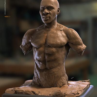 Surajit sen man3 0 digital sculpture surajitsen june2020a