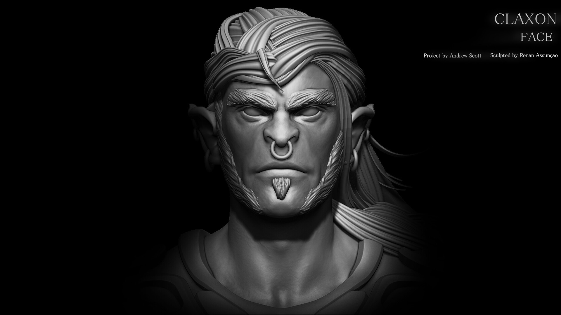 HEAD: In particular in this model I choose to create the head as do initial, I make this decision in some of the models, when it comes to a mesh of hair or beard more specific. and saved in a ztl file, just when the body is blocked.