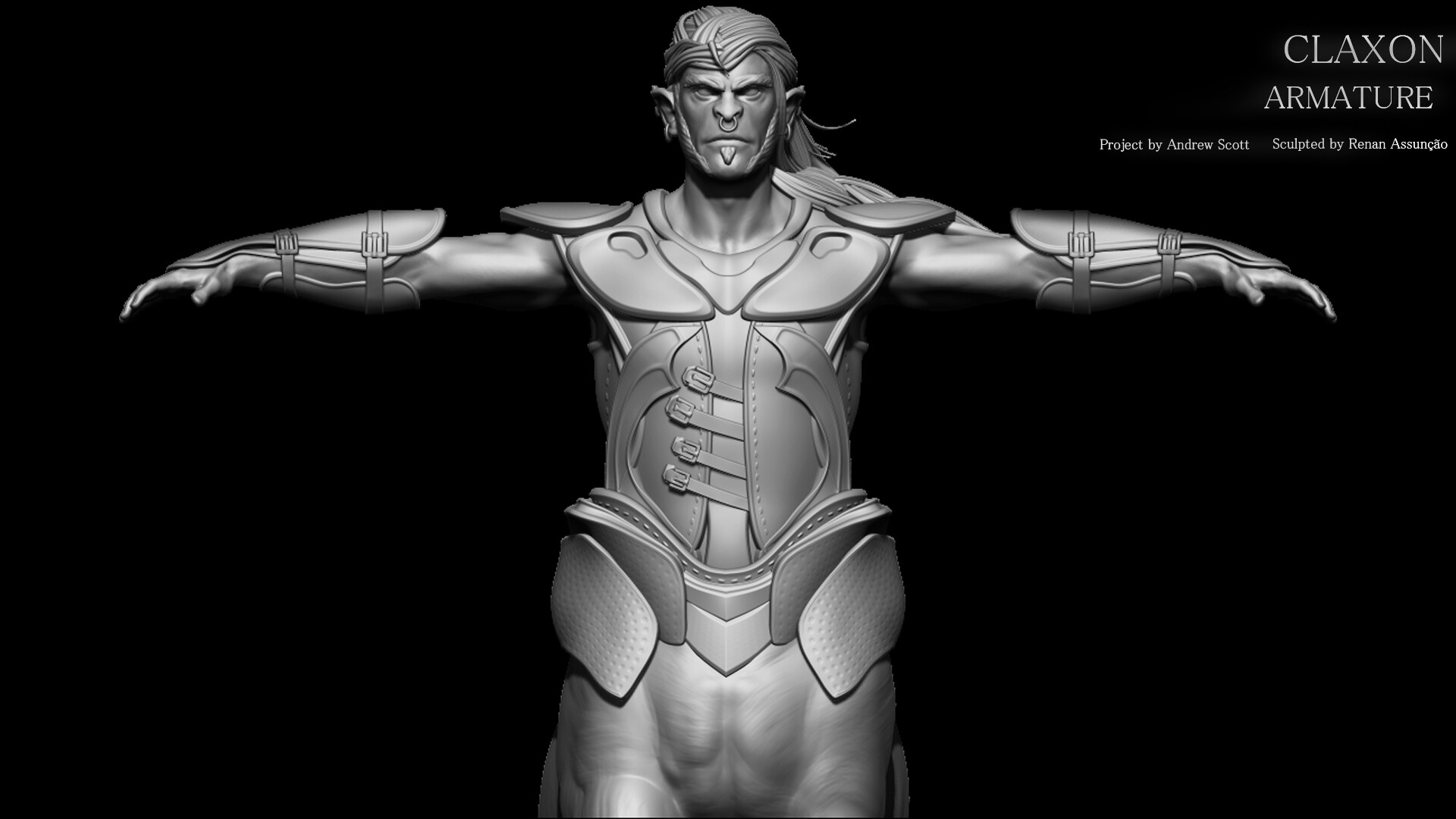 ACESSORIES: Particularly choose always to sculpt T pose, because of the practicality of creating the accessories. The first phase of seams and textures is applied, according to the 80mm scale to be visible on the print.