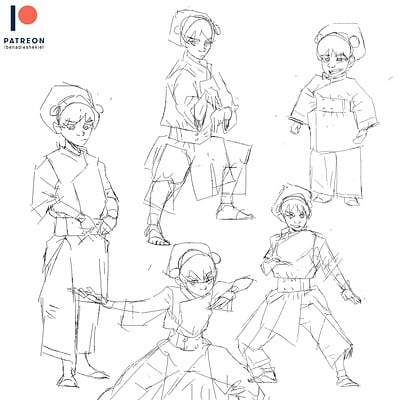 Toph Beifong Sketches