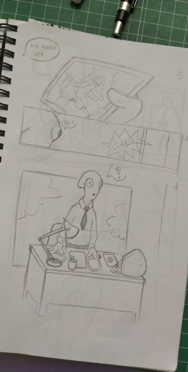 sketches of the page