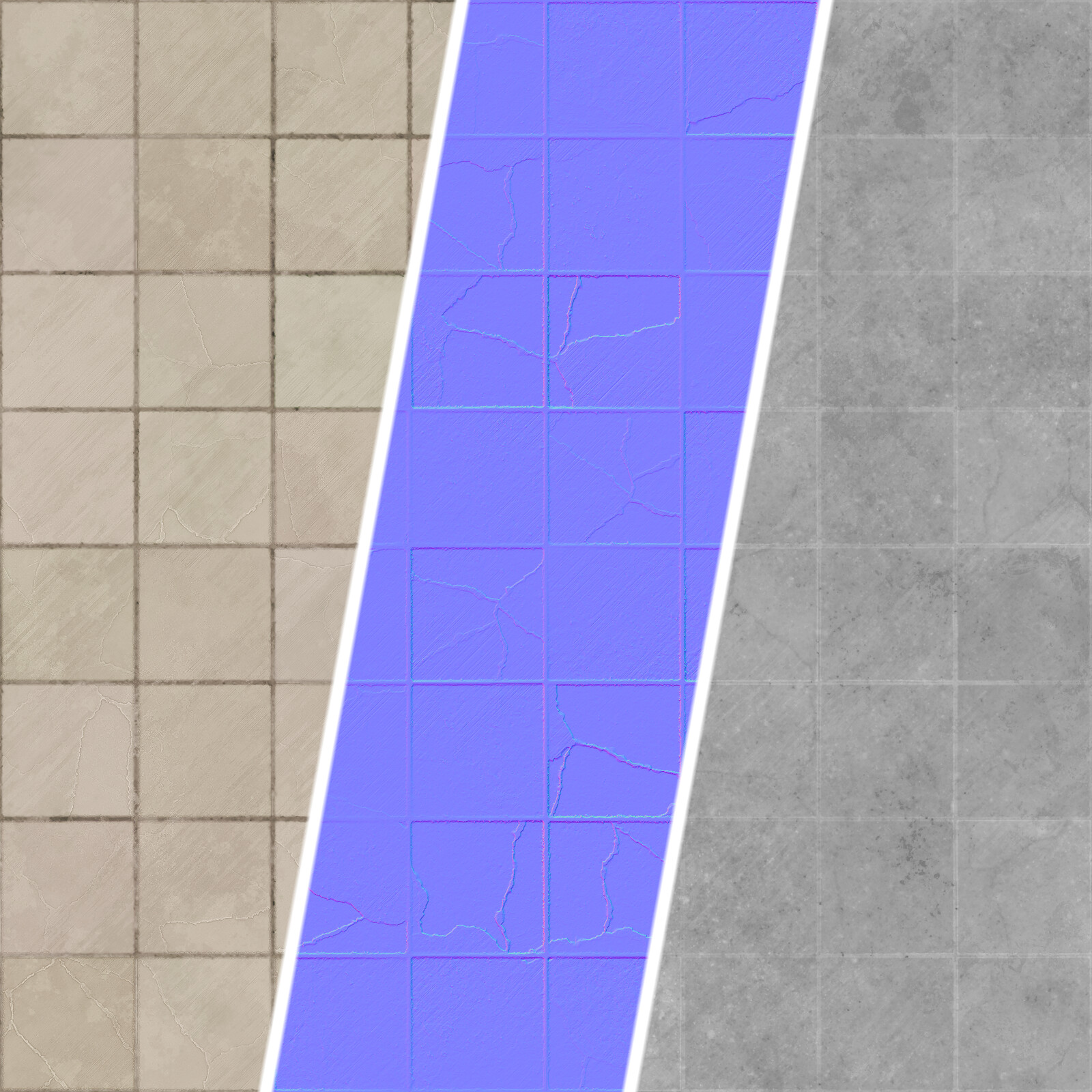 Pavement Tile texture maps breakdown