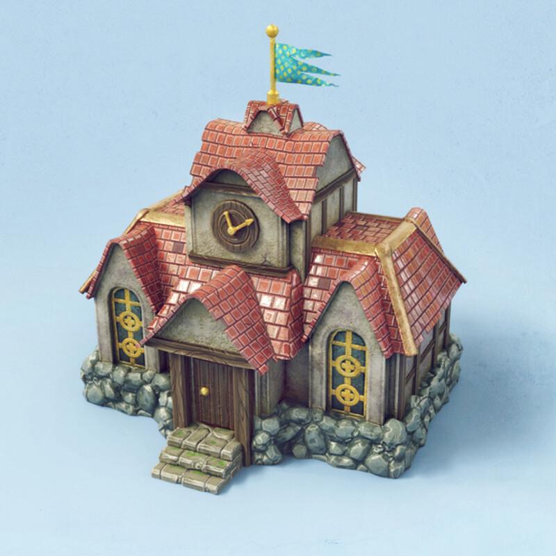 Knights & Merchants PBR model - (FAN ART) Game asset