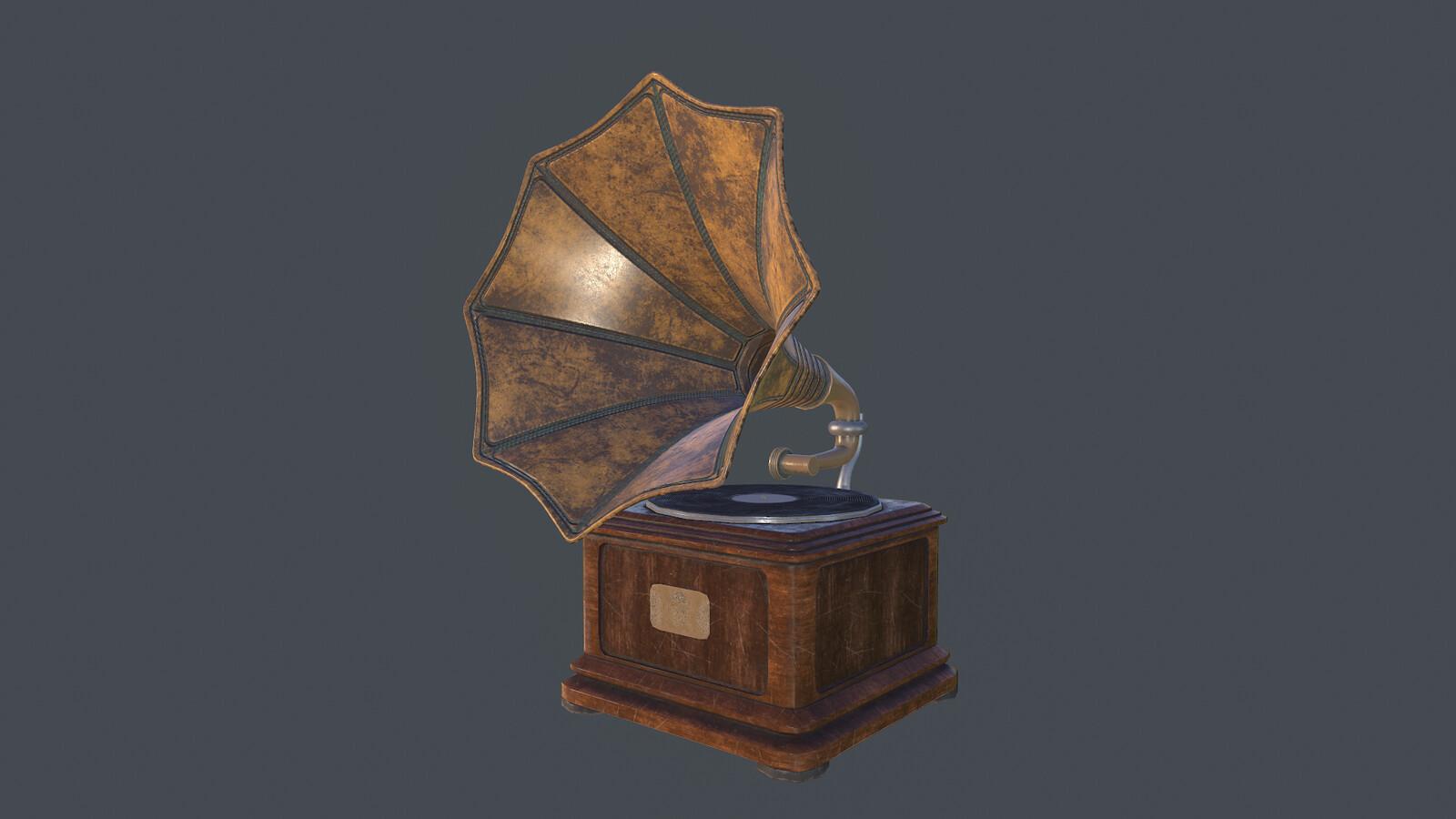 Gramophone Modeling and Look Dev