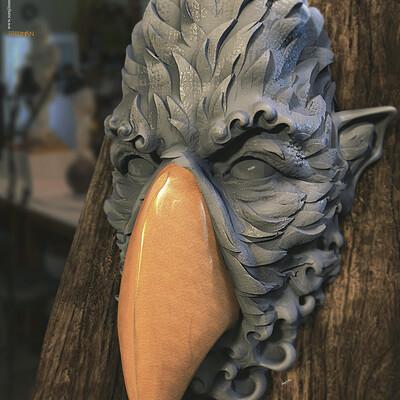 Surajit sen birdman2 0 digital sculpture surajitsen june2020aa