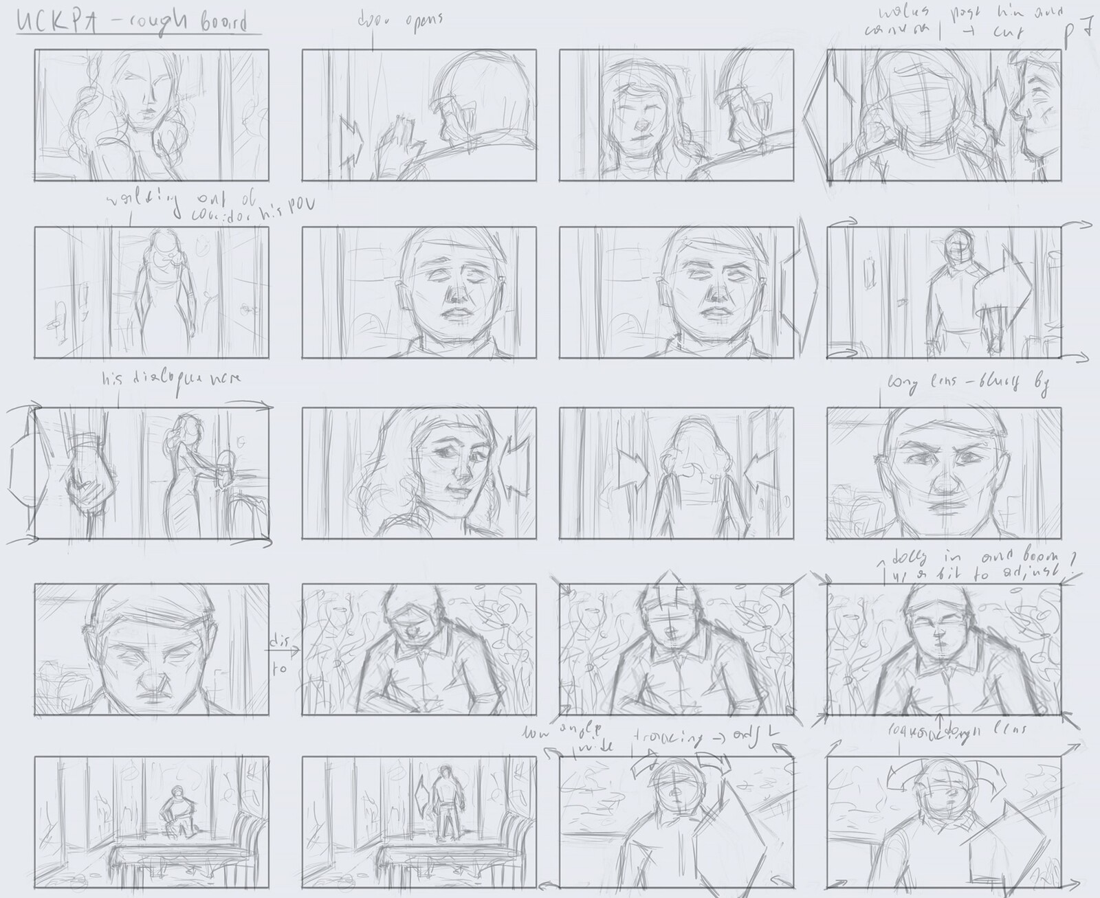 Rough board from a live-action short film I am currently working on.