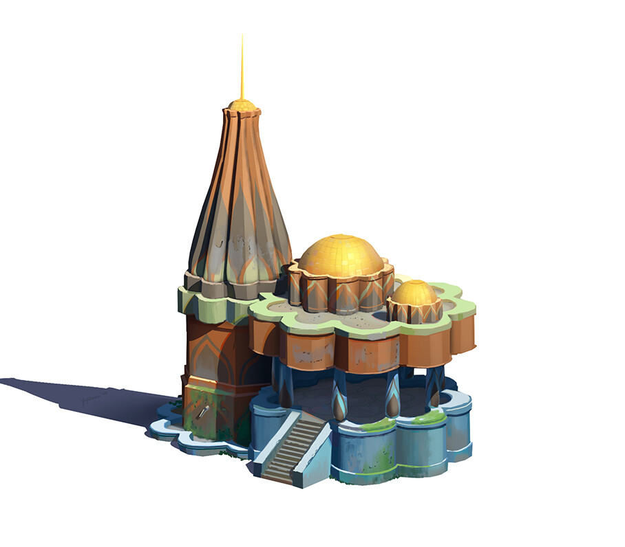 Initial building Design. Switched the colors in the final to make the building feel  a bit more realistic