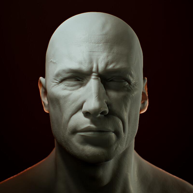 Head Sculpt for a W.I.P Chracter v6