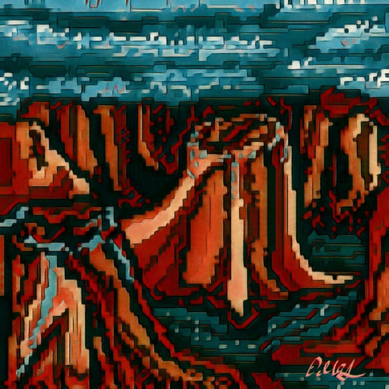 Red canyon pixel art artwork