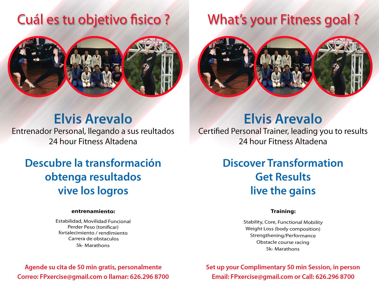 Spanish English Promotional brochure