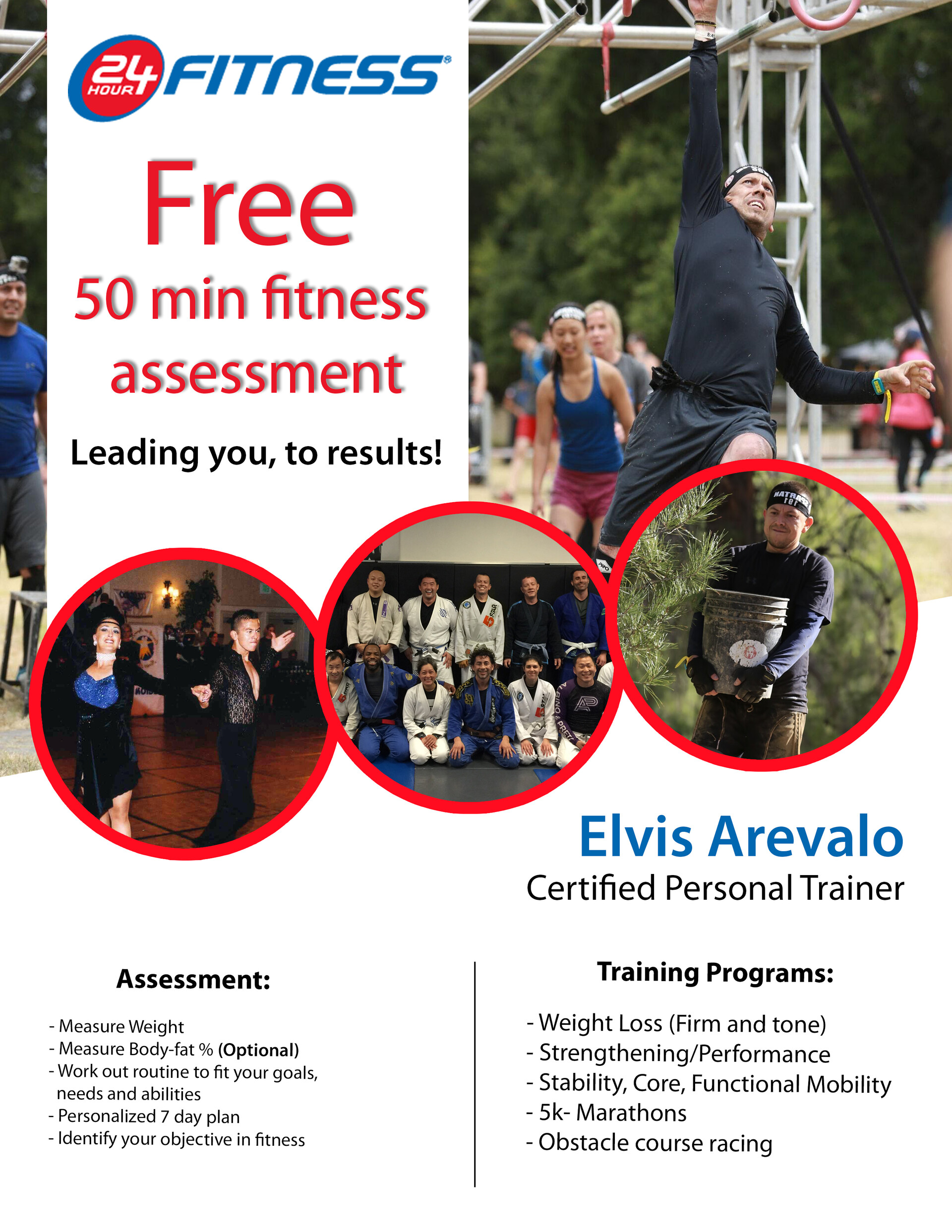 Personal trainer Promotional Brochure for 24 hour fitness