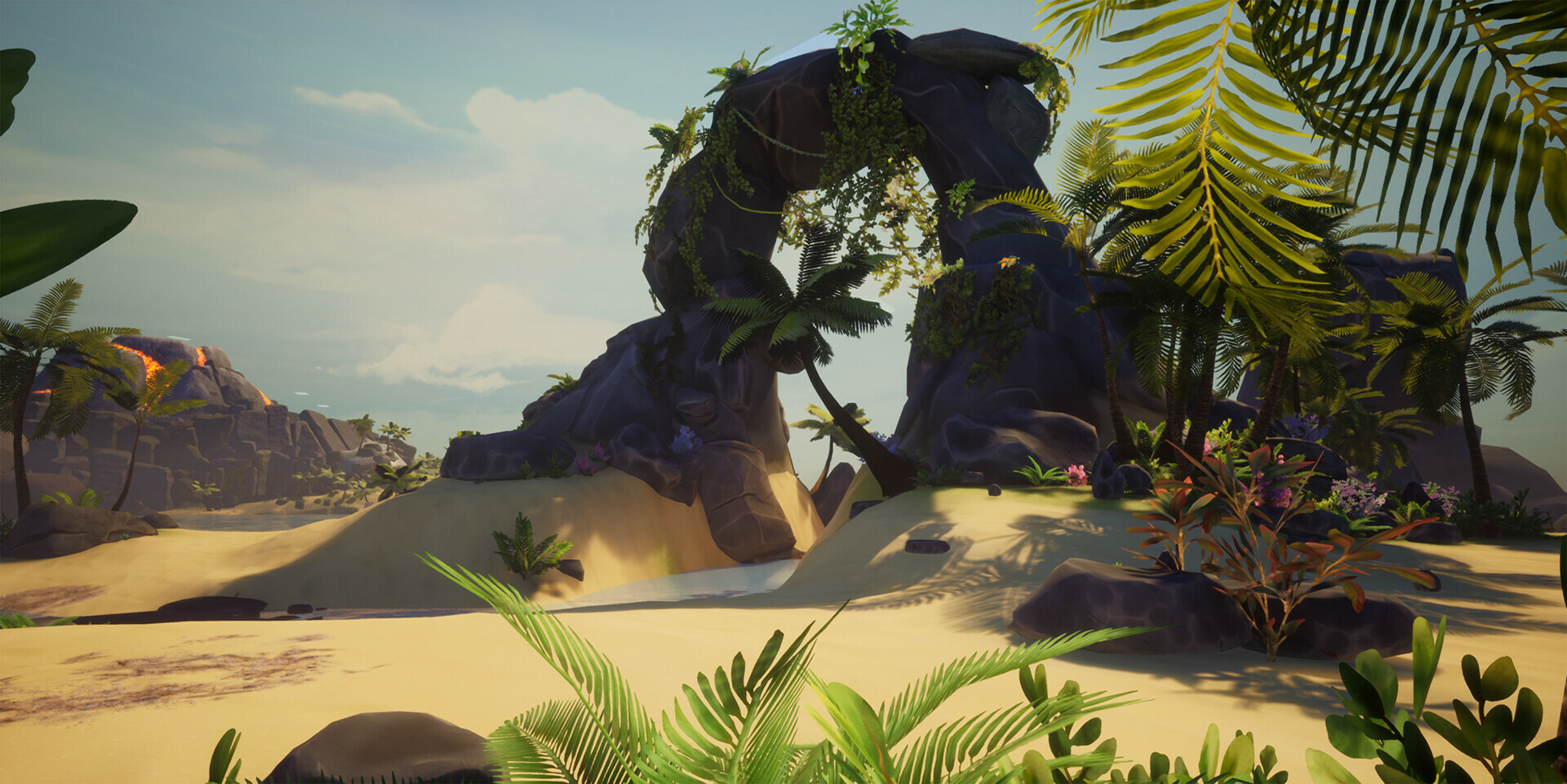 The Beach level was our 2nd environment for the project. I assisted in the set dressing of the two main islands and the volcano island, as well as continued to create props to fit this environment.