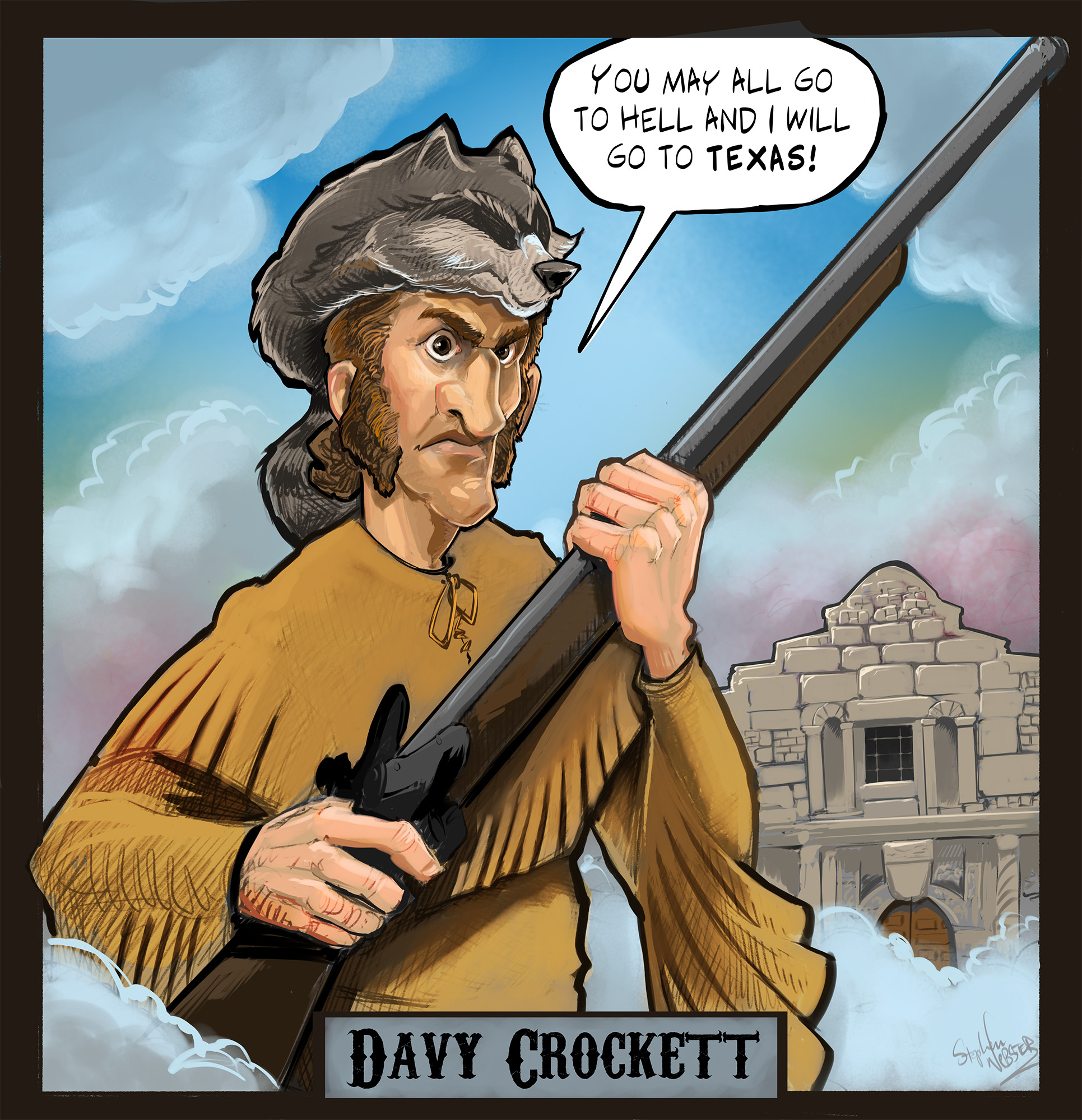 Davy Crockett (color version)