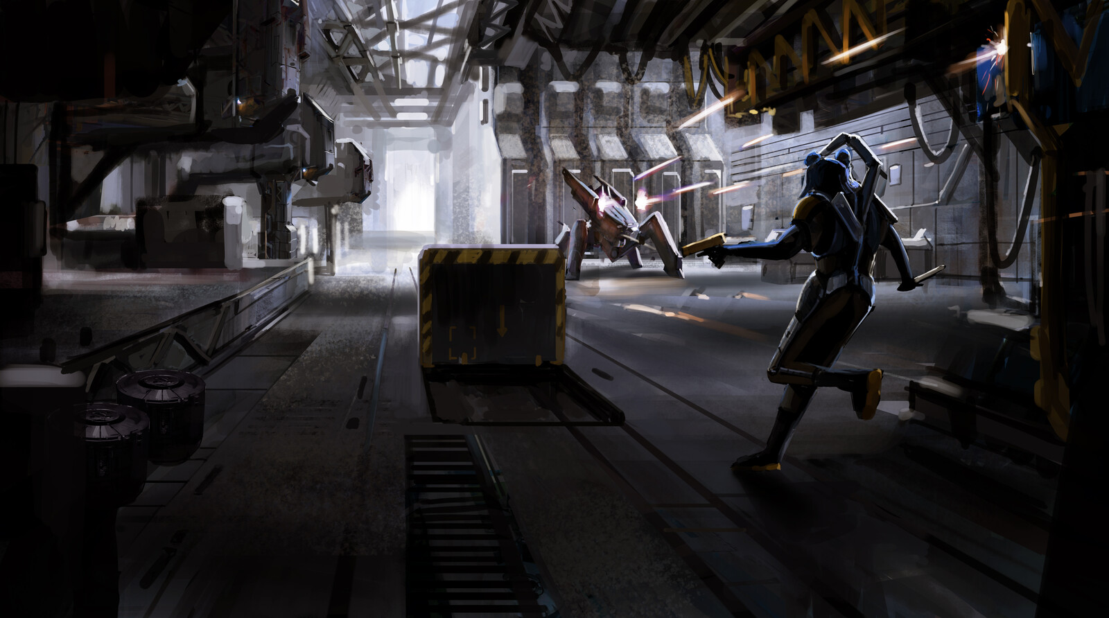 combat sequence, concept art