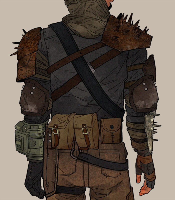 Concept Art by amazing Kim Nguyen https://scuttlebuttin.tumblr.com/post/162922013563/scuttlebuttin-new-vegas-loadout-for-my-courier