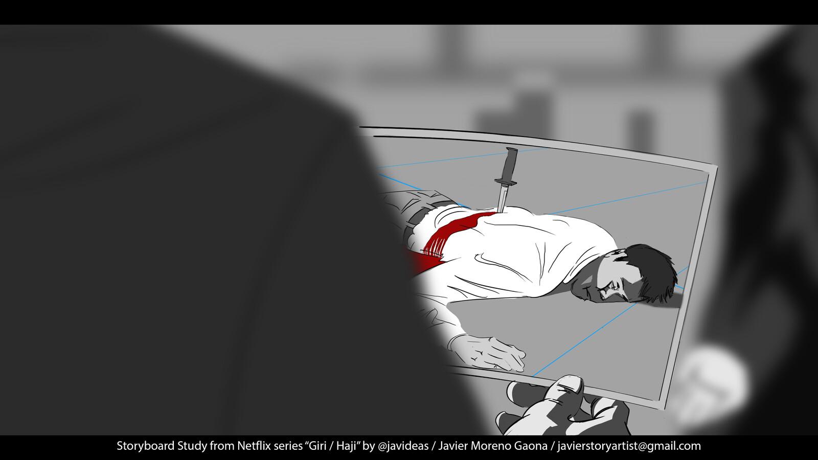 Storyboard & Timelapse Giri / Haji Netflix series